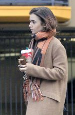 LILY COLLINS Out and About in Los Angeles 11/26/2016