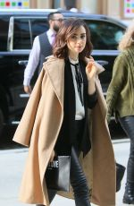 LILY COLLINS Out and About in New York 11/02/2016