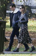 LILY JAMES and Matt Smith Out in Primrose Hill 10/31/2016