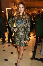 LILY JAMES at Burberry Celebrates