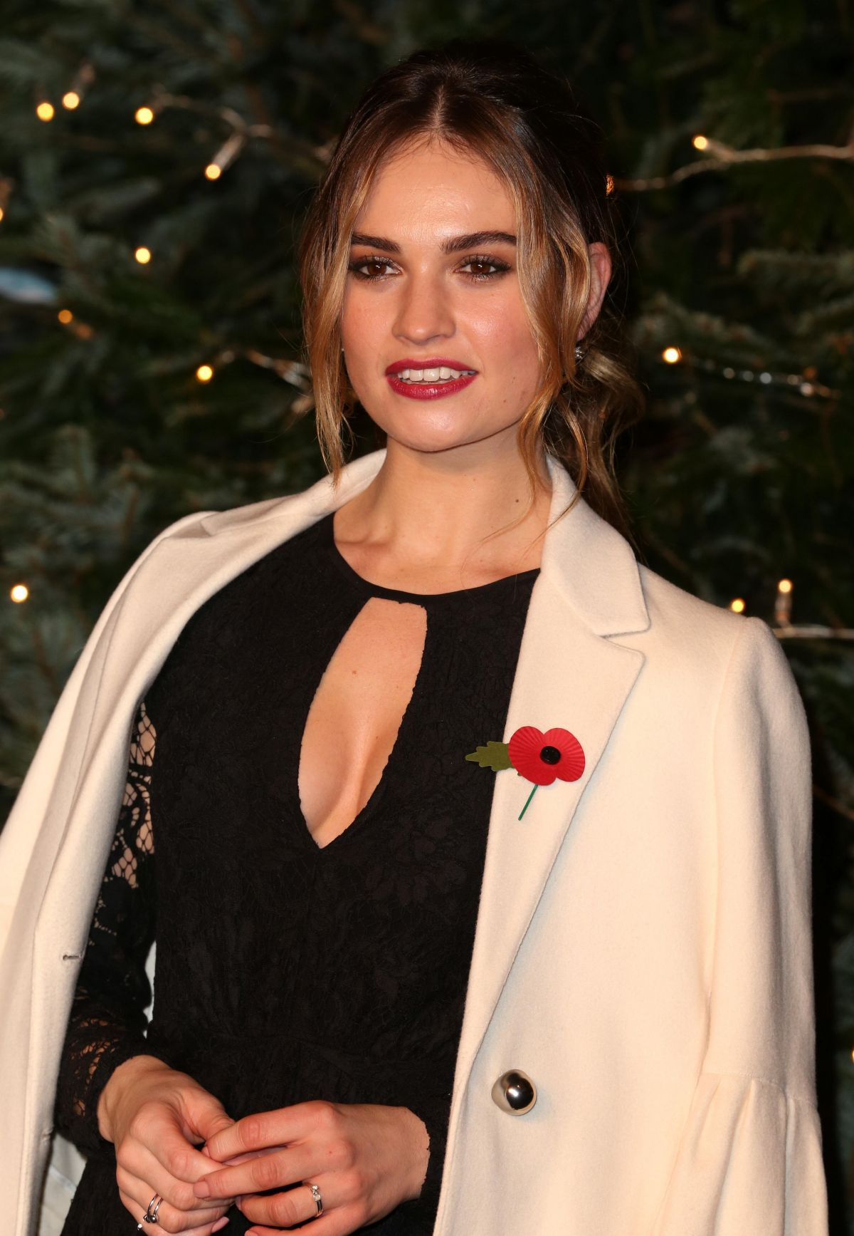 LILY JAMES at Harrods in Collaboration with Burberry for a Very British Fairytale Event in London 11/03/2016
