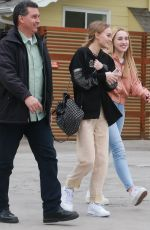 LILY-ROSE DEPP Out for Lunch with Friends in Studio City 11/26/2016