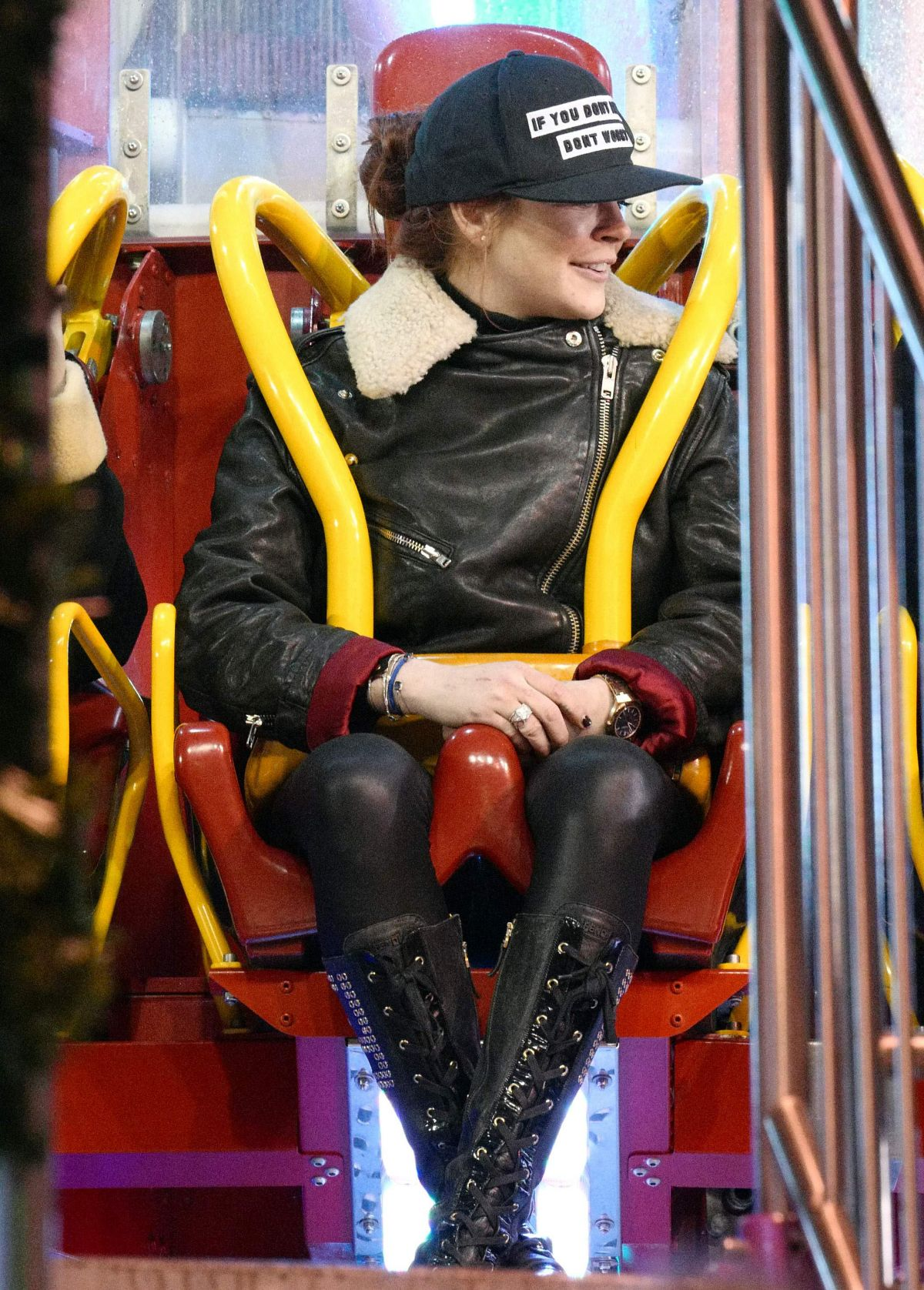 LINDSAY LOHAN at Winter Wonderland in Hyde Park in London 11/20/2016
