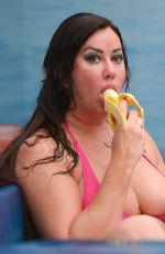 LISA APPLETON in a Hot Tub in Liverpool 11/08/2016