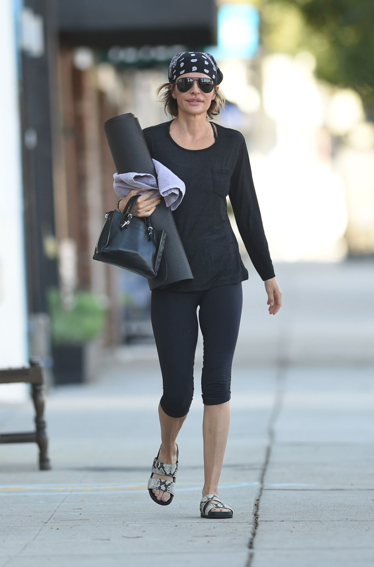 LISA RINNA at a Yoga Class in Los Angeles 11/25/2016