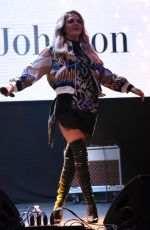 LOUISA JOHNSON Performs at Meadowhall Christmas lLights Switch On in Sheffield 11/03/2016