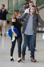 LUCY HALE and Anthony Kalabretta at Airport in Sydney 11/17/2016