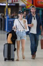 LUCY HALE and Anthony Kalanretta at Airport in Melbourne 11/20/2016