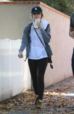 LUCY HALE at Aroma Cafe in Studio City 11/22/2016