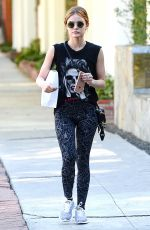 LUCY HALE in Tights Out in LA 11/10/16