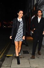 LUCY WATSON Leaves Five Years of Gazelli Party in London 11/10/2016