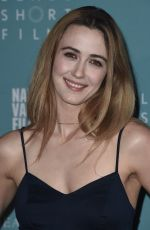 MADELINE ZIMA at Napa Valley Film Festival in Yountville 11/10/2016