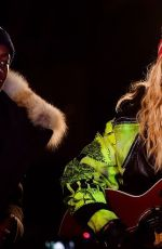 MADONNA Performs Acoustic Songs at Washington Square Park in New York 11/07/2016