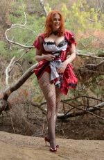 MAITLAND WARD on the Set of a Halloween Photoshoot in LA National Forest 10/30/2016