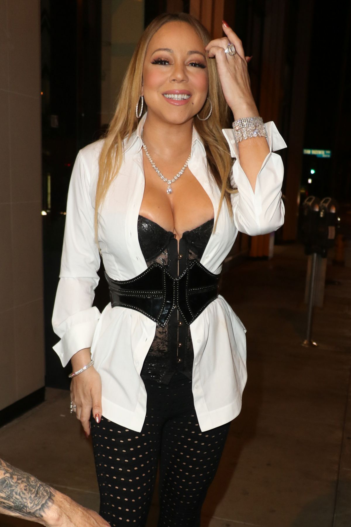 MARIAH CAREY Night Out in Hollywood 11/05/2016