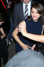 MARION COTILLARD Arrives at 'Allied' Fan Screening in Los Angeles 11/09/2016