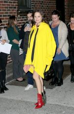 MARION COTILLARD Arrives at Late Show with Stephen Colbert in New York 11/16/2016