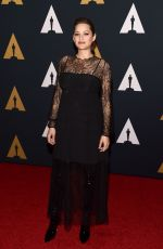 MARION COTILLARD at AMPAS' 8th Annual Governors Awards in Hollywood 11/12/2016