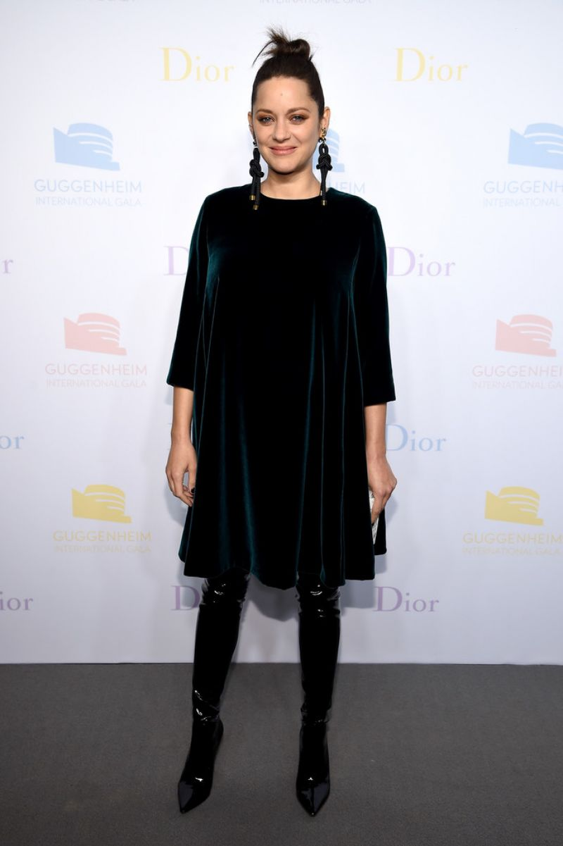 MARION COTILLARD at Guggenheim International Gala Dinner in New York 11/17/2016