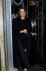 MARION COTILLARD Leaves Her Hotel in London 11/21/2016
