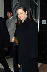MARION COTILLARD Leaves Her Hotel in London 11/21/2016