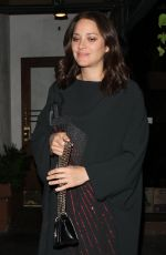 MARION COTILLARD Out for Dinner at Madeo Restaurant in West Hollywood 11/13/2016