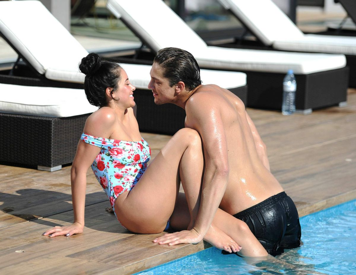 MARNIE SIMPSON and Lewis Bloor at a Pool in Ibiza 11/11/2016