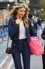 MARTHA HUNT Arrives at Victoria's Secret Fashion Show Fittings in New York 10/31/2016