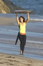 MICHELLE MONAGHAN on the Set of a Photoshoot in Malibu 11/08/2016
