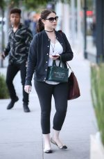 MICHELLE TRACHTENBERG Out Shopping in Beverly Hills 11/22/2016