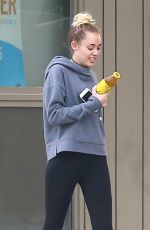 MILEY CYRUS at a Gas Station in Los Angeles 11/16/2016