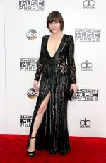 MILLA JOVOVICH at 2016 American Music Awards at The Microsoft Theater in Los Angeles 11/20/2016