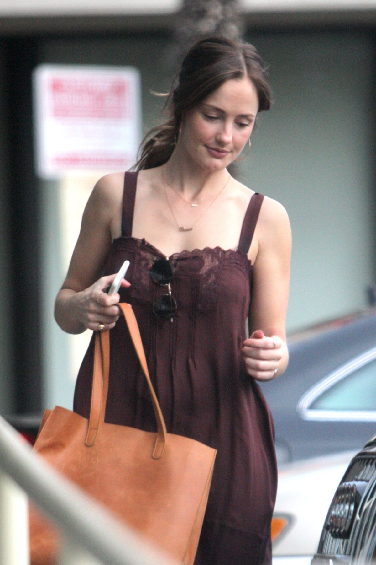 MINKA KELLY at a Gas Station in West Hollywood 11/12/2016