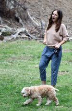 MINKA KELLY Out with Her Dog in Los Angeles 11/01/2016