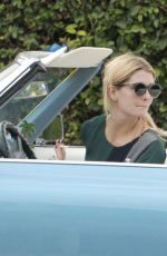 MISCHA BARTON Driving Her Cadillac Out in West Hollywood 11/05/2016