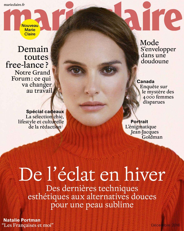 NATALIE PORTMAN in Marie Claire Magazine, France December 2016 Issue