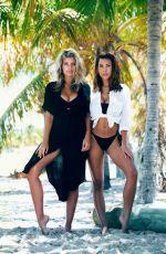 NATASHA OAKLEY and DEVIN BRUGMAN on the Set of Swimwear Photoshoot