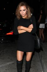 NAYA RIVERA at Catch LA in West Hollywood 11/04/2016