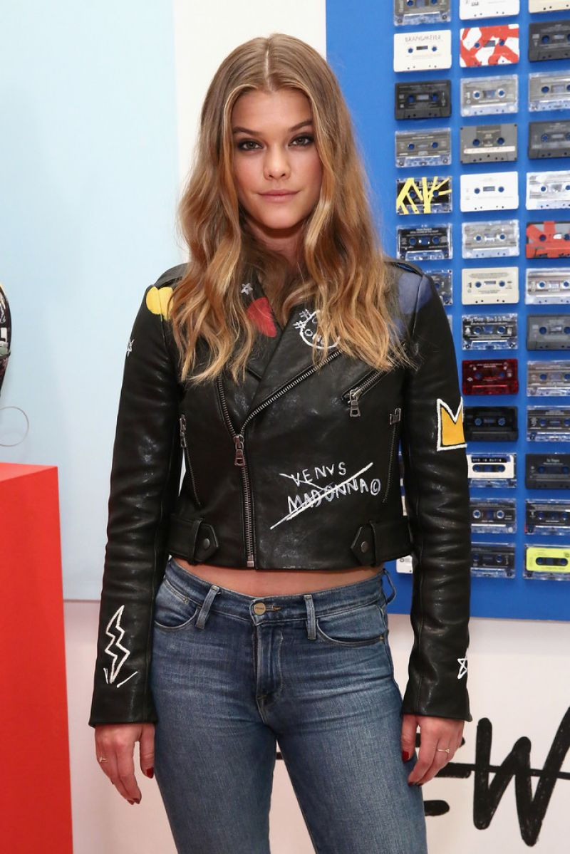 NINA AGDAL at Alice + Olivia x Basquiat Cfda Capsule Collection Launch Party in New York 11/02/2016