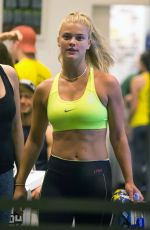 NINA AGDAL at Soulcycle Gym in  New York 11/16/2016