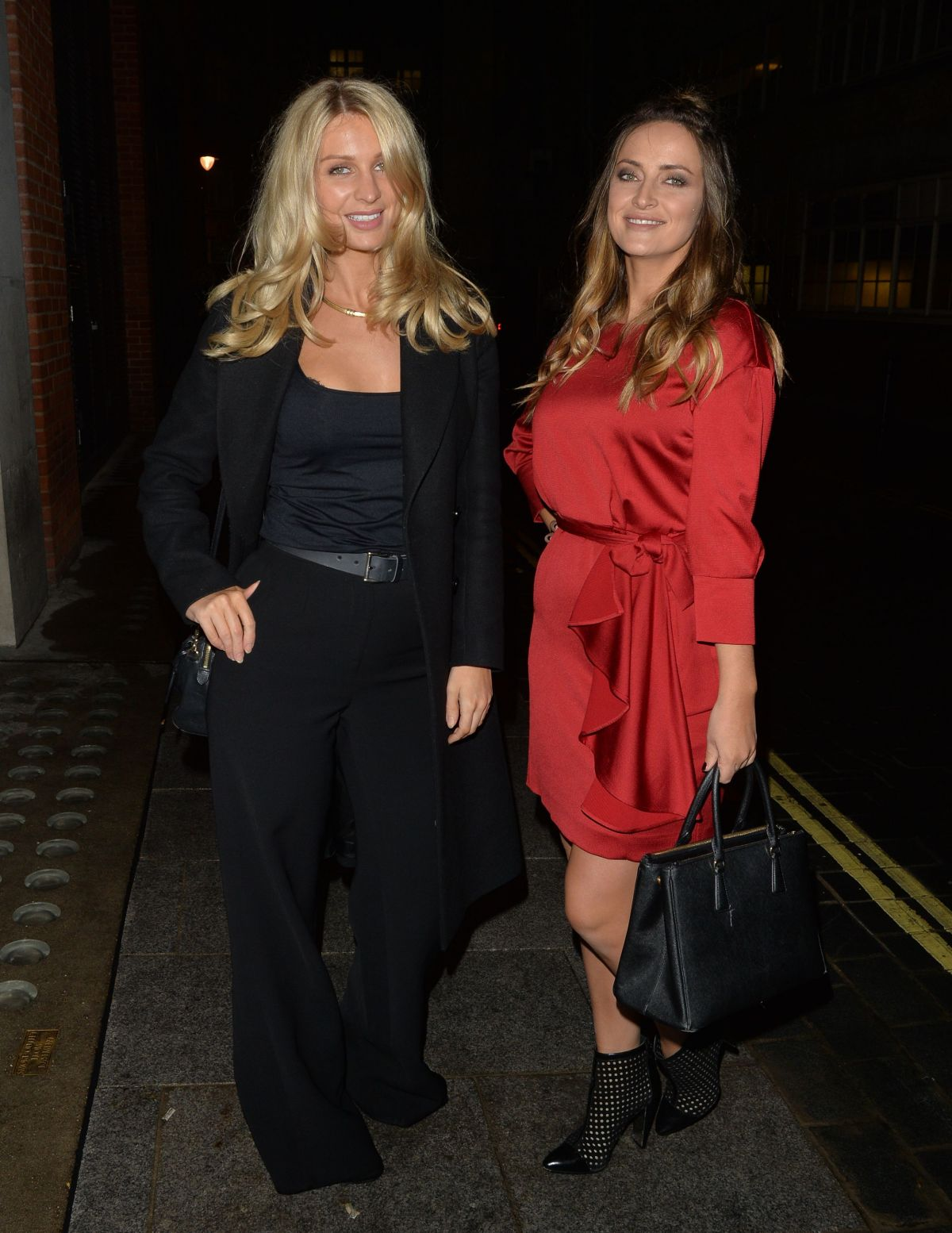 OLIVIA and FRANCESCA NEWMAN-YOUNG Night Out in London 11/10/2016