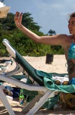 OLIVIA BUCKLAND in Bikini on the Beach in Barbados 11/01/2016
