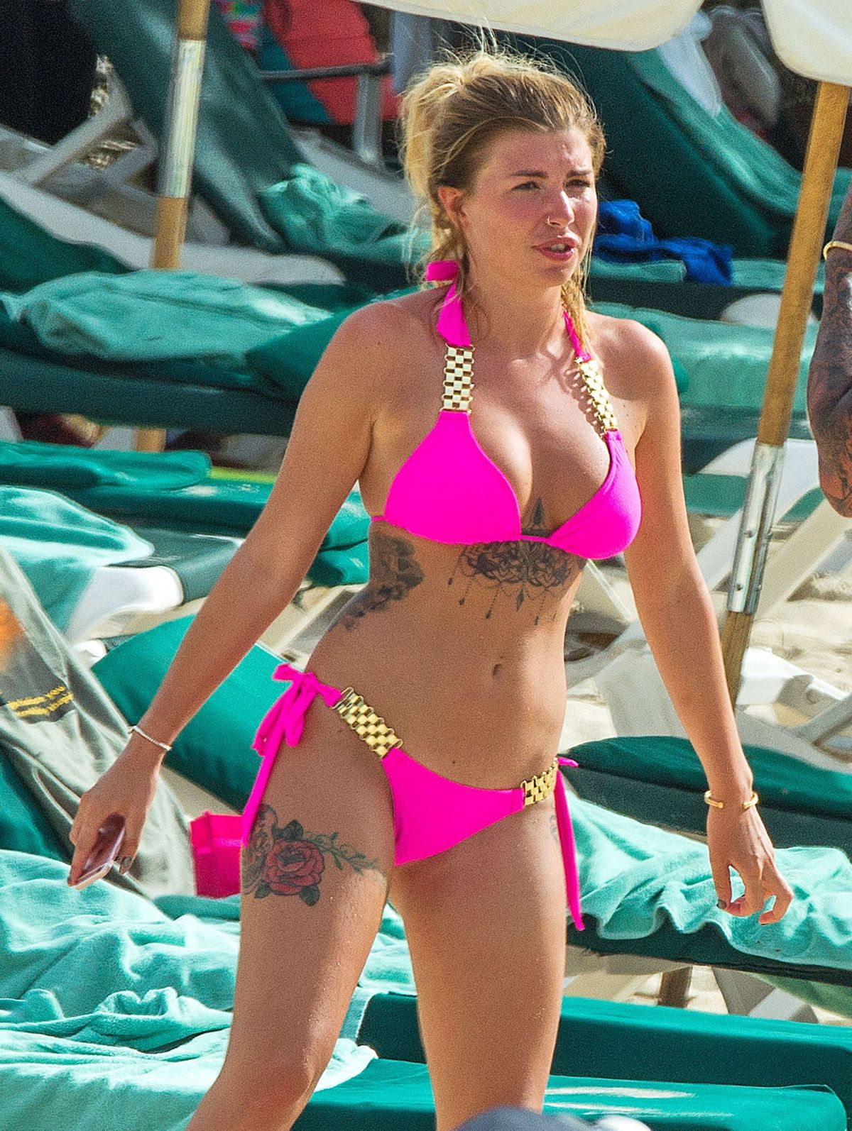 OLIVIA BUCKLAND in Bikini on the Beach in Barbados 11/04/2016