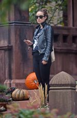 OLIVIA WILDE Out and About in Brooklyn 11/03/2016