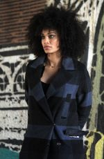 PEARL THUSI on the Set of Quantico in New York 11/04/2016