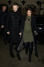 Pregnant CHERYL COLE Night Out in London 11/29/2016