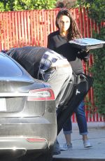Pregnant MILA KUNIS Arrives at Her Home in Studio City 11/23/2016