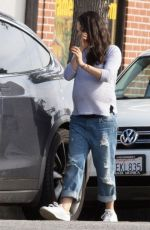 Pregnant MILA KUNIS Out and About in Studio City 11/15/2016