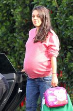 Pregnant MILA KUNIS Out in Studio City 11/21/2016