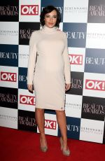 Pregnant STEPHANIE DAVIS at OK! Beauty Awards in London 11/24/2016